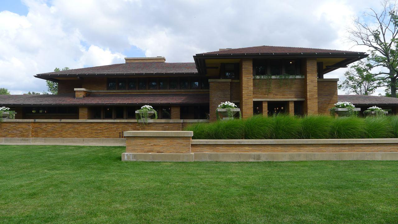 La primera casa martin huellas de arquitectura for Frank lloyd wright piani casa della prateria