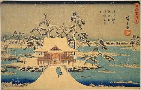 Pintura Ukiyo-e de Hiroshige