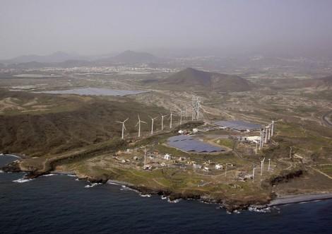 Isla de Tenerife. Parque Eólico del Polígono Industrial de Granadilla.