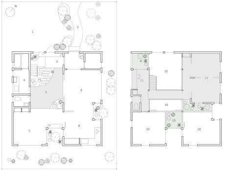 Casa Kofunaki, plantas baja y primera.
