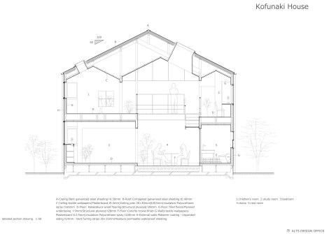 Casa Kofunaki. Sección constructiva.
