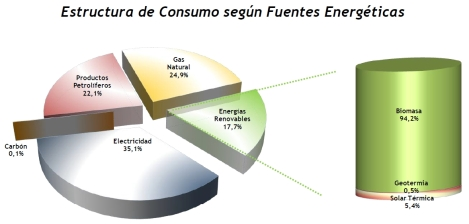 Consumo según fuentes energéticas