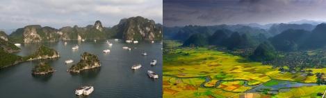 Contrastes tierra-agua en Vietnam
