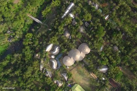 Vista de satélite del Green School.