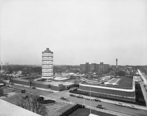 Johnson Wax Tower, Location: Racine WI, Architect: Frank Lloyd Wright