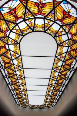 Waikapu, vidriera sobre escalera
