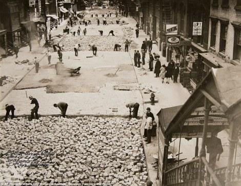 Adoquinado de la 28th Street-1930