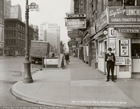 Esquina de la Sexta Avenida con la 40-1940