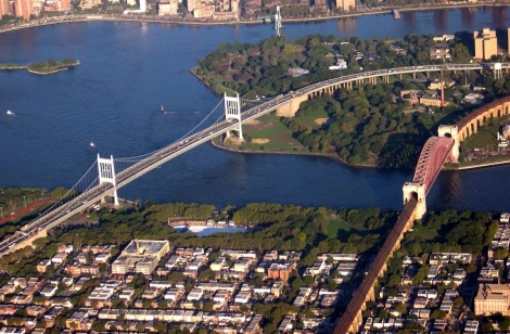 Triborough Bridge y el Hell Gate Railroad