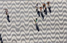 Playa Copacabana - mosaico